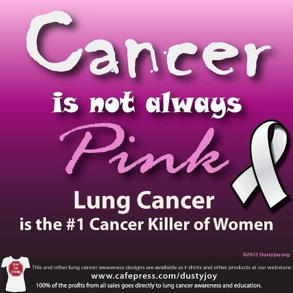 Twitter / LungCancerFaces: I don't begrudge breast cancer ...