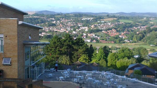 A lovely view to wake up to #sfep13 #Exeter http://twitter.com/JuliaWordFire/status/373700365373669376/photo/1