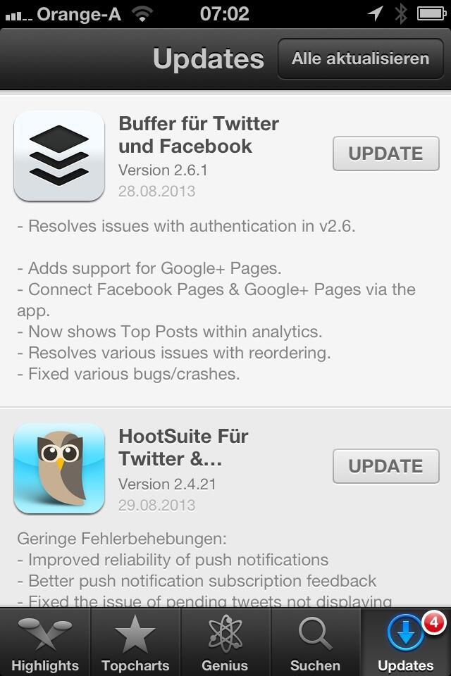 Twitter / guenterexel: Starker iOS Morgen: #Hootsuite ...
