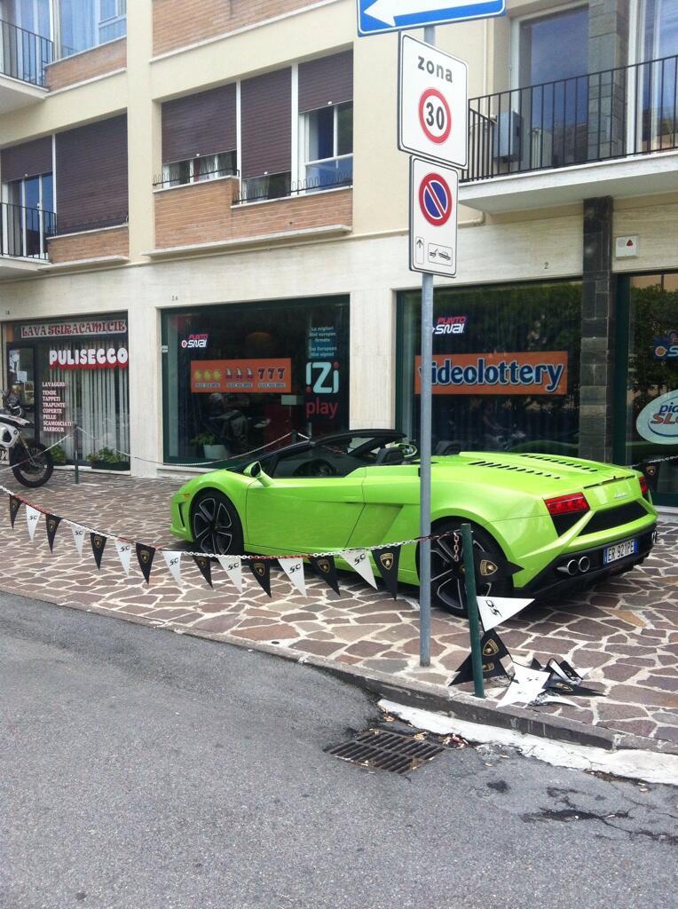Lamborghini verte