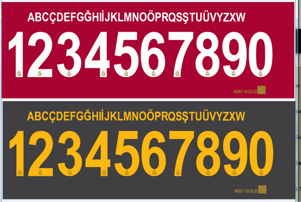 Türkiye ligi maçlarında kullandığımız fontlar