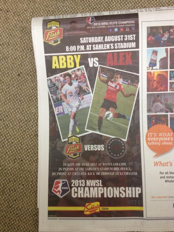 @NWSL CHAMPIONSHIP GAME!! Saturday 8pm. Rochester, NY  @WNYFlash ⚡vs. @ThornsFC