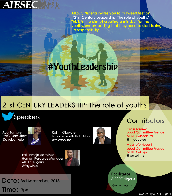 AIESEC Nigeria's TweetMeet: 21st  Century Leadership: The role of youths..