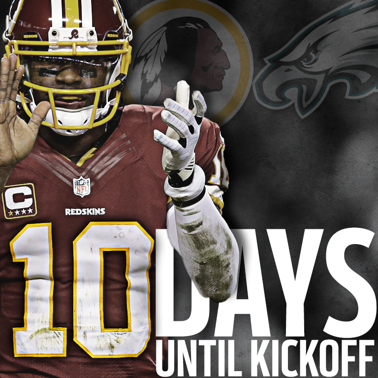 Redskins 10 days to start of the season