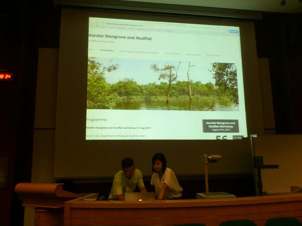 Getting ready for the Mandai Mangrove Workshop #mandaimm http://twitter.com/wildsingapore/status/373608836684189697/photo/1