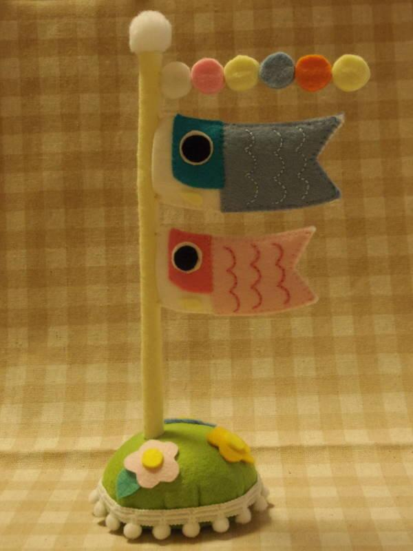 くまちゃん四季お飾りセット☆「鯉のぼり」完成♪♪ #手芸 #handmadejp http://t.co/HJ8pm2eoKj