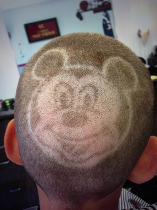 Georges Barber Shop On Twitter Custom Mickeymouse Haircut Design