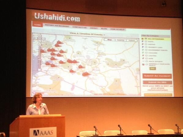 .@google @smithmegan gives props to innovative tech tool, @ushahidi @MaDTECHEd #BPSTEMEdTech #ICT4D #innovation http://twitter.com/TechChange/status/370215623114383360/photo/1