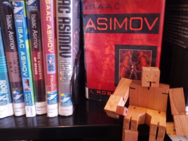 Stump the Librarian time! Send us your questions, and enjoy Answer Robot's #bookshelfie. http://twitter.com/skokielibrary/status/370219007971819520/photo/1