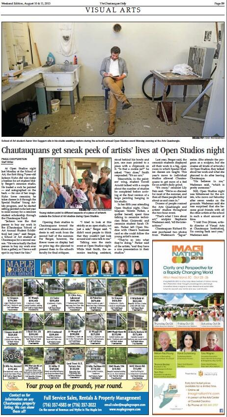 Thumbnail for Today at Chautauqua | Wednesday, Aug. 21, 2013