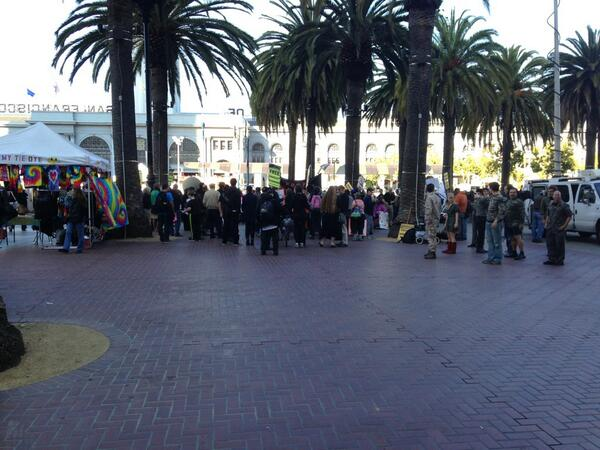 Another look at #BradleyManning sentencing protest in #SanFrancisco http://twitter.com/allaboutgeorge/status/370344993858142208/photo/1