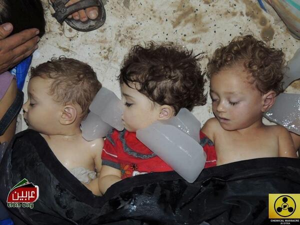 1,400 gassed with sarin by                   USA/ ISRAEL in GHOUTA, SYRIA