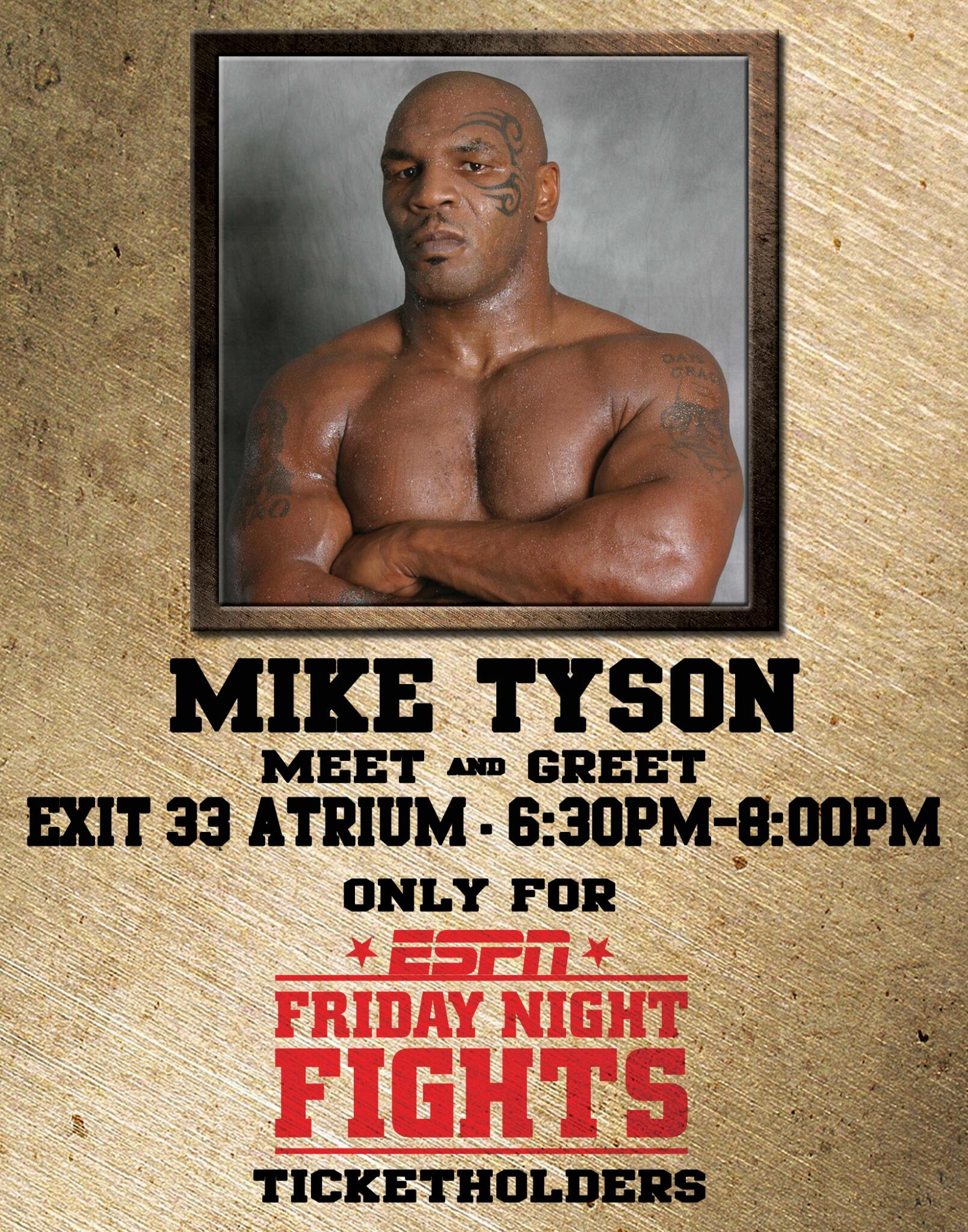 Mike Tyson On Twitter Meet Me Today Turningstone 822 6 8p For