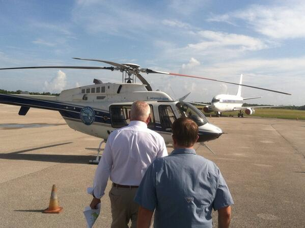 Sen. Charlie Dean is taking a @SFWMD helicopter ride before today's #IndianRiverLagoon Senate mtg. RT @CharlieDeanSD5 http://twitter.com/CharlieDeanSD5/status/370541044490043392/photo/1