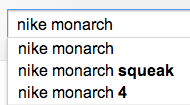 Google autocomplete un-sold me on a new pair of shoes. this is word of mouth at Internet scale: http://t.co/wz6jjeNC0P