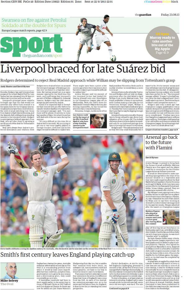 Let Down: Guardians promise for big Suarez news is total anti climax, no change