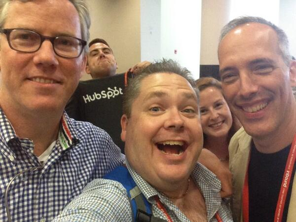 Fun pic with @bhalligan and @stevegarfield + a #PhotoBomb. #INBOUND13  (dang I'm short!) http://twitter.com/iGoByDoc/status/370665945821618176/photo/1