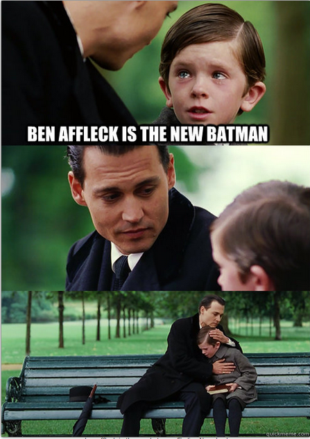 Ben Affleck announced as Batman. Does this open the door for a Matt Damon Robin? http://t.co/8mkgnzekde