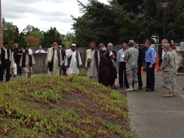 Afghan witnesses readying for press conference at #Bales http://t.co/aNeLgSLd3u