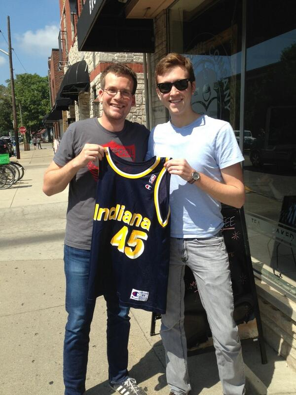 The Smits jersey! Hand delivered from Bloomington, Indiana. http://twitter.com/realjohngreen/status/370958349681975297/photo/1