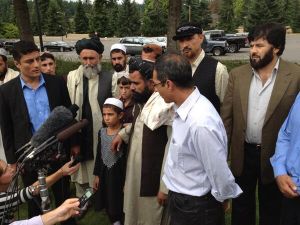 Mullah Baraan says #Bales sentence satisfied him only 5 percent. They wanted more. http://t.co/QebZrBZ8eU