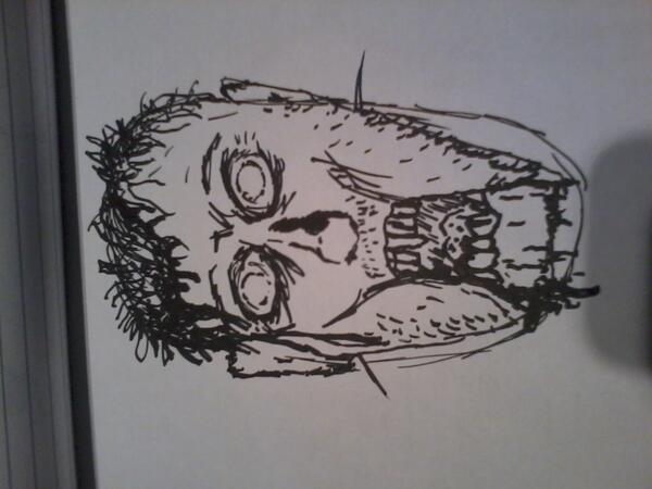 Here's my effort at drawing the living dead. Excellent workshop with Warren Pleece at @edbookfest @strippedbookfest http://twitter.com/paulcgallagher/status/370990316738084864/photo/1