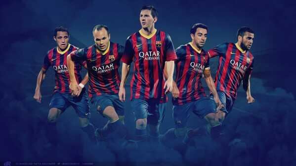 Xavi Hernandez On Twitter Barca Wallpaper Xavi Iniesta Alves Messi Http T Co F94mhykejp