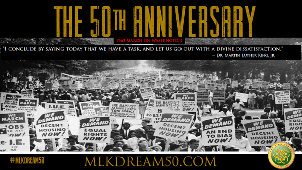 @BerniceKing The 50th Anniversary of the March on Washington is here, we must seize the moment #mlk #mlkdream50 http://twitter.com/KingCenterATL/status/371258680466894848/photo/1