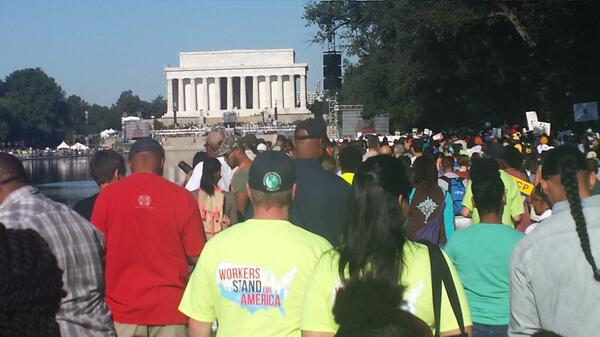 My view of the 50th anniversary of the March on Washington.  #ihaveadream #mlk #jobsandfreedom http://twitter.com/cypavs/status/371265122427498496/photo/1