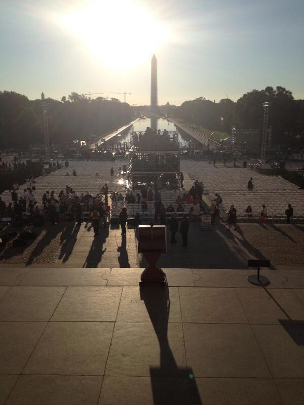 The view from the podium, 50 years on from Martin Luther King's 'I Have A Dream' speech. #mlk50 #mlk http://twitter.com/PaulLewis/status/371233000467337217/photo/1