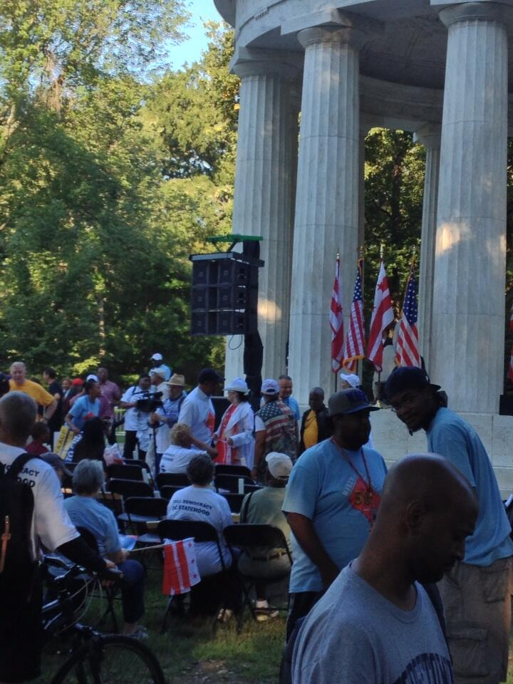 Twitter / tomsherwood: DC statehood rally perking ...