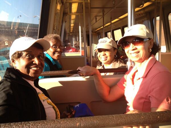 With a bunch of teachers, riding the train downtown. One was arrested at a Petersburg, VA sit in #MOW50 #fb http://twitter.com/tampa_do_gooder/status/371244697009676288/photo/1