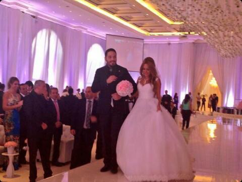 BScivYqCYAAKXr5 صور حفل زفاف رامى عياش   صور فرح رامى عياش على مصممة الأزياء داليدا سعيد