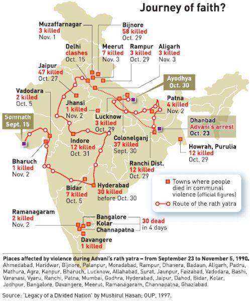 Ayodhya In India Map.Rachit Seth On Twitter This Is The Map Of India Showing Places