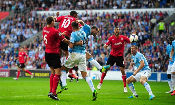FULL-TIME Cardiff 3-2 Man City. Two headers by Fraizer Campbell secure a famous #BPL win for the Bluebirds. #CARMCI http://t.co/dyzfhZ9OiN