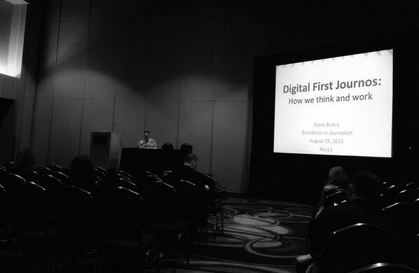 Good catching up with the forward-thinking, @stevebuttry at #EIJ13 - 'Digital First Journos' http://twitter.com/ToTheVictor/status/371664591022862336/photo/1