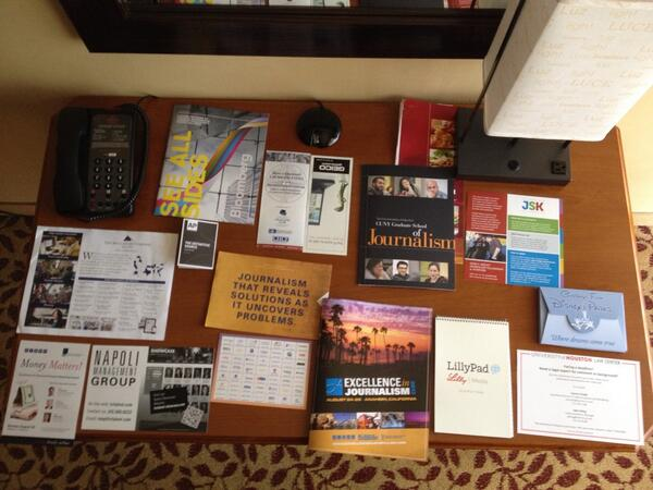 Here's all of the #EIJ13 swag, minus the socks (they're on my feet). http://twitter.com/andymboyle/status/371666246489473024/photo/1