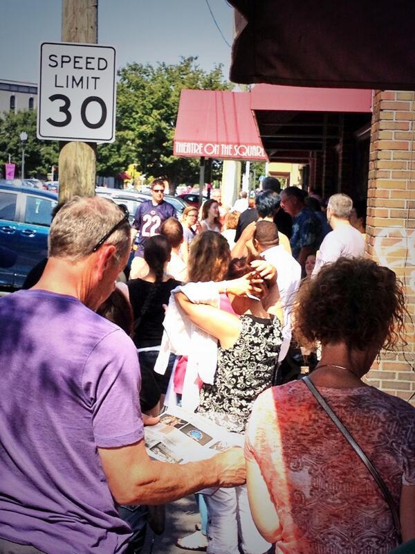 Line down the block for Theater on the Square. #fringe13 http://twitter.com/lediamedia/status/371727140221251584/photo/1
