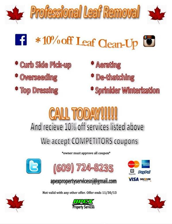 Apexpropertyservices On Twitter Quot Our 2013 Fall Cleanup