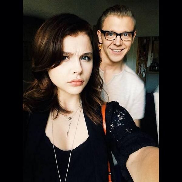 Foto van Chloë Moretz  & haar Broer  Ethan Moretz