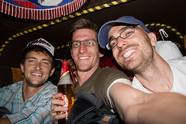 "RT @EdGrahamPhoto: A2: Beer and 3 full size guys in a tuk tuk... ""cozy"" is the best way to describe it #travelindia http://twitter.com/EdGrahamPhoto/status/372031607672025088/photo/1"
