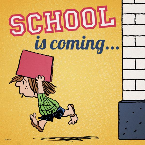 peanuts on twitter school is coming school http t co