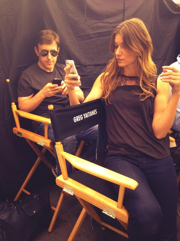 Only @ivanamilicevic can sit on my chair. #banshee with @Jtropper http://twitter.com/GregYaitanes/status/372013216312098816/photo/1