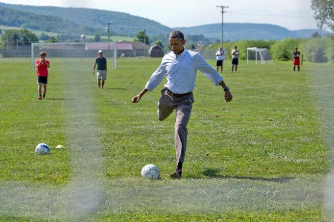 """Barack Obama on Twitter: """"Soccer practice at Tully Junior-Senior ..."""