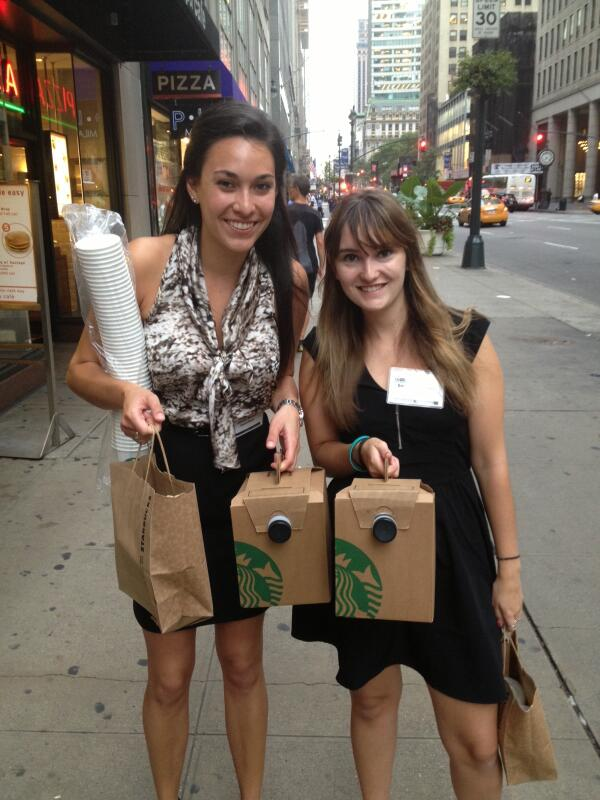 Coffee emergency at the @Bisnow event! #starbucks run to save the day http://twitter.com/NYUWassEmployer/status/372321936291815425/photo/1