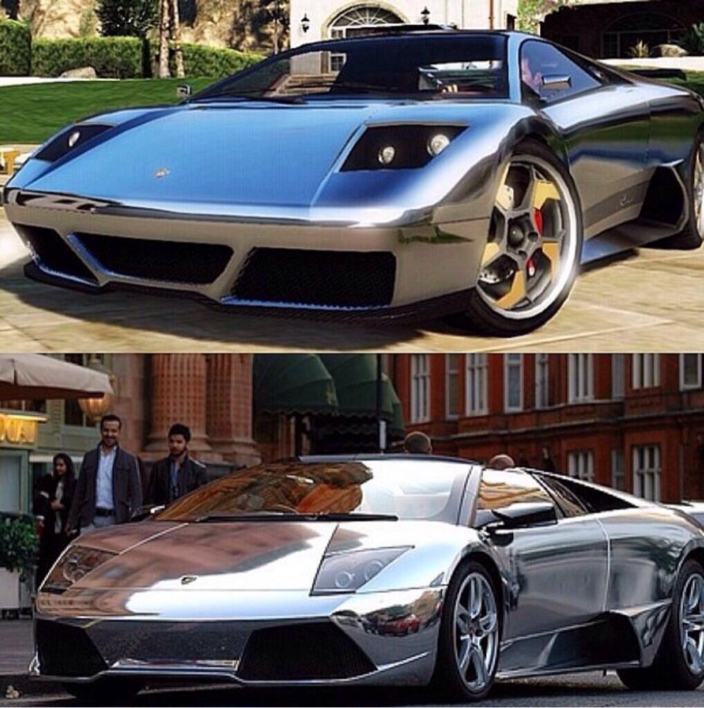 """GTA Base On Twitter: """"Real Life Cars In #GTAV: Chrome"""