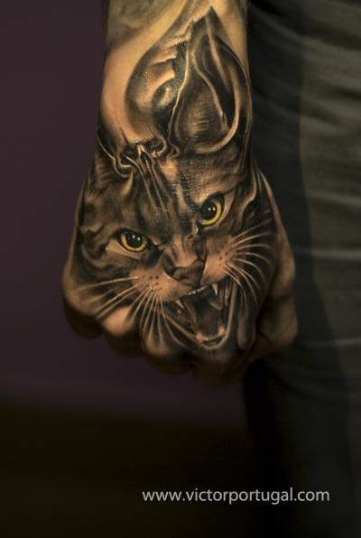 Bengal cat tattoo