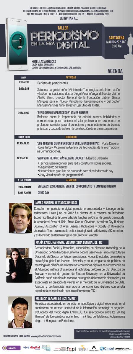 Muy chévere el foro de #PeriodismoyTIC organizado por la Red @PeriodismoDeHoy y el @Ministerio_TIC. Congrats. http://twitter.com/ClaudiaBerbeo/status/372434458973962240/photo/1