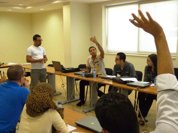 #ICFJmideast trainer @aghamloush provoked lively debate between @alfatlawee2012 & fellow trainees on sharing content http://twitter.com/danlynx/status/372720593218437120/photo/1