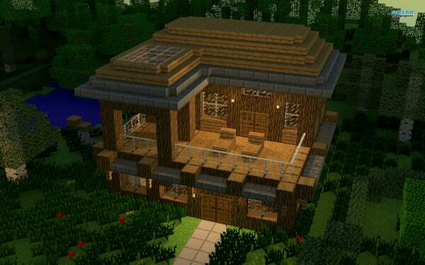 Minecraft Builds On Twitter Minecraft House With An Awesome Balcony Rt Http T Co Gpyznzc6wj